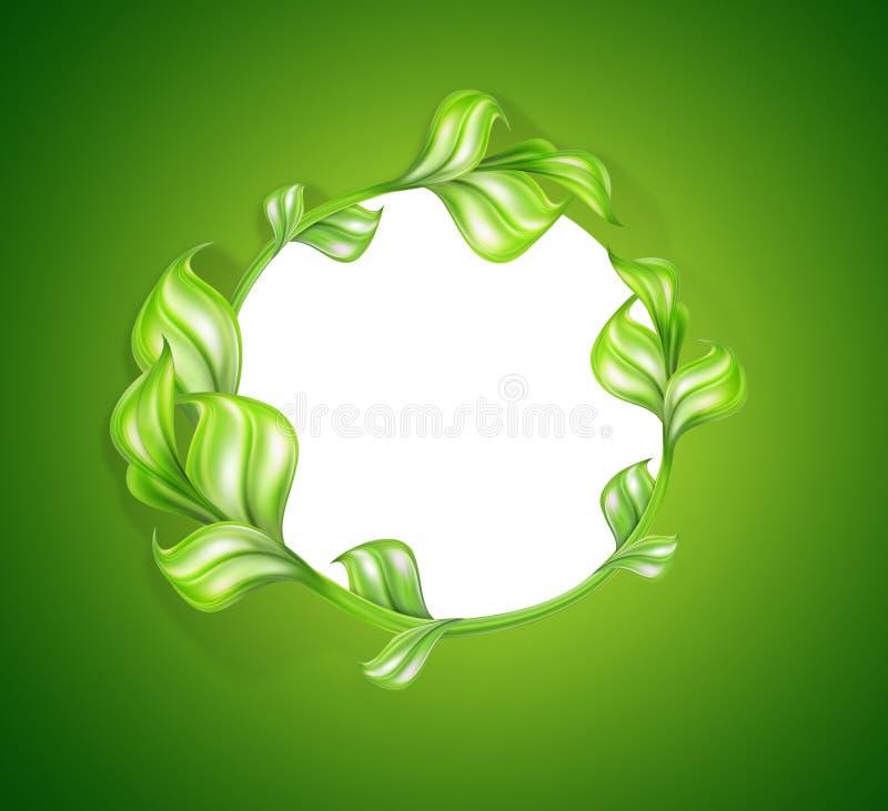 естественное предпосылки зеленое иллюстрация вектора