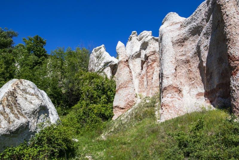 Естественное явление каменная свадьба, Zimzelen, Болгария стоковое фото rf
