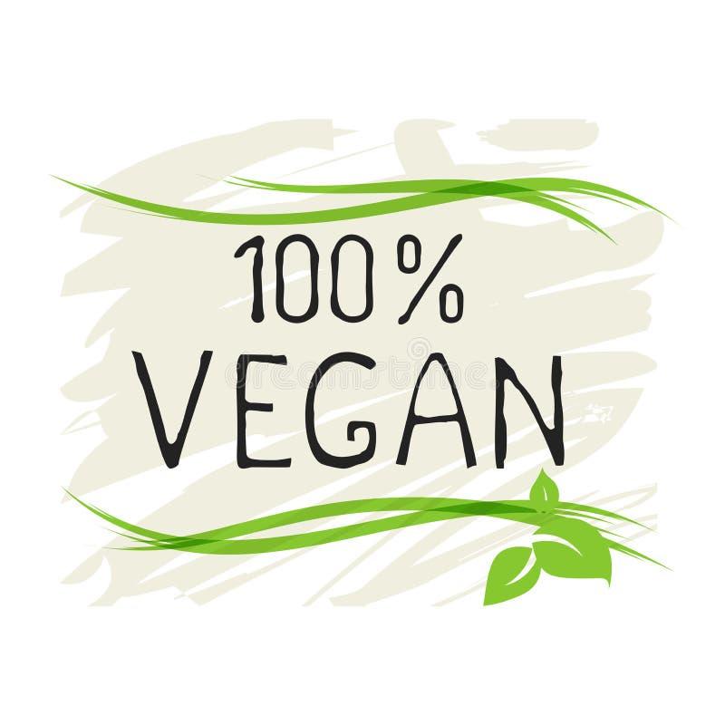 Естественные значки ярлыка и изделия высокого качества продукта 100 vegan био здоровые органические Eco, 100 био и естественный з иллюстрация штока