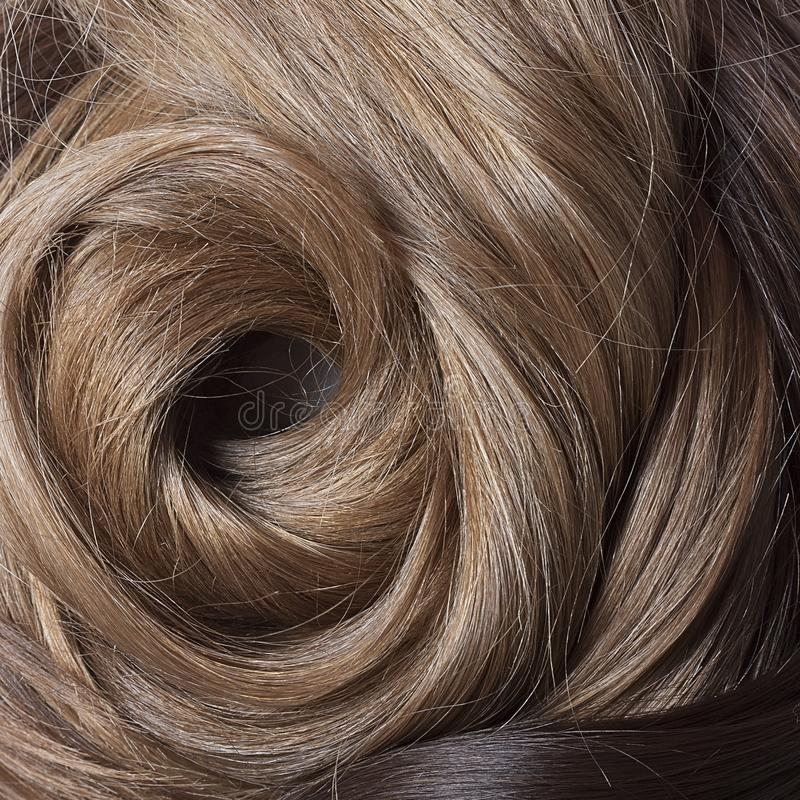 Естественные человеческие волосы стоковое изображение