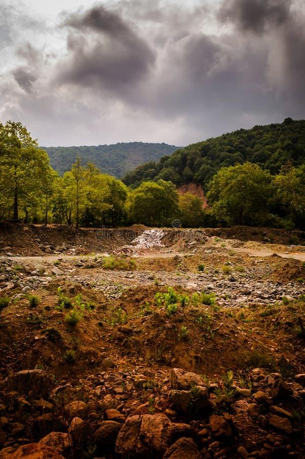 Естественный ландшафт уловленный штормом стоковые фото