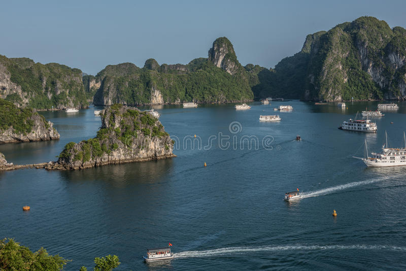Естественный взгляд залива Ha длинного стоковое фото