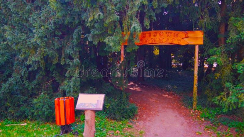 Естественный вход входа свода в изгородь в орнаментальном garde 2019 стоковое фото rf