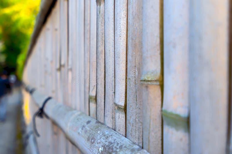 Естественный дом стены handmade от бамбука стоковые фотографии rf