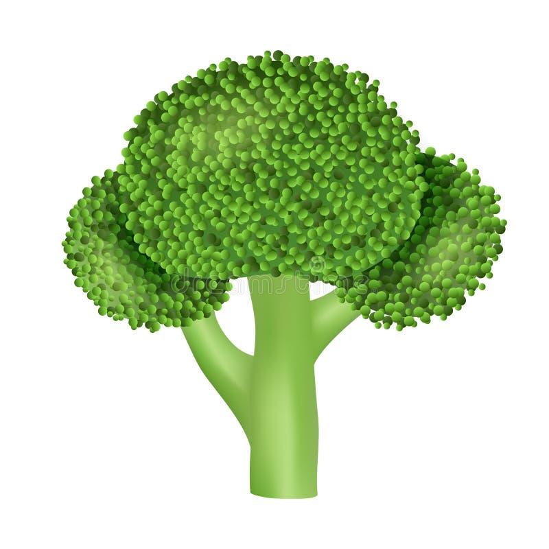 Естественный значок брокколи, реалистический стиль иллюстрация штока