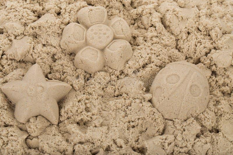 Естественный кинетический песок стоковая фотография rf