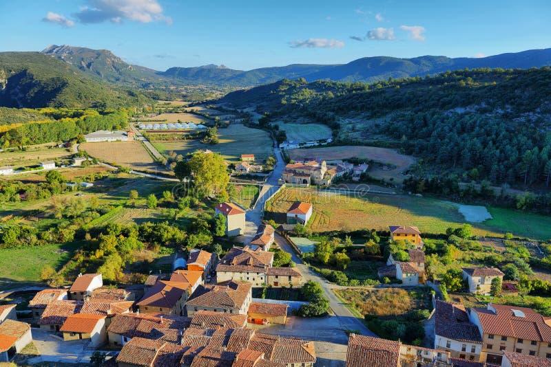 Естественный ландшафт, поля Frias в Бургосе, Испании стоковое фото rf