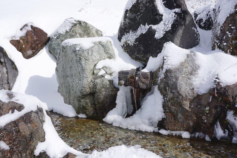 Естественный минеральный пруд ключевой воды на Daikanbo стоковая фотография