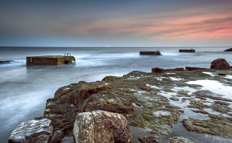 Естественный плавательный бассеин стоковое фото rf