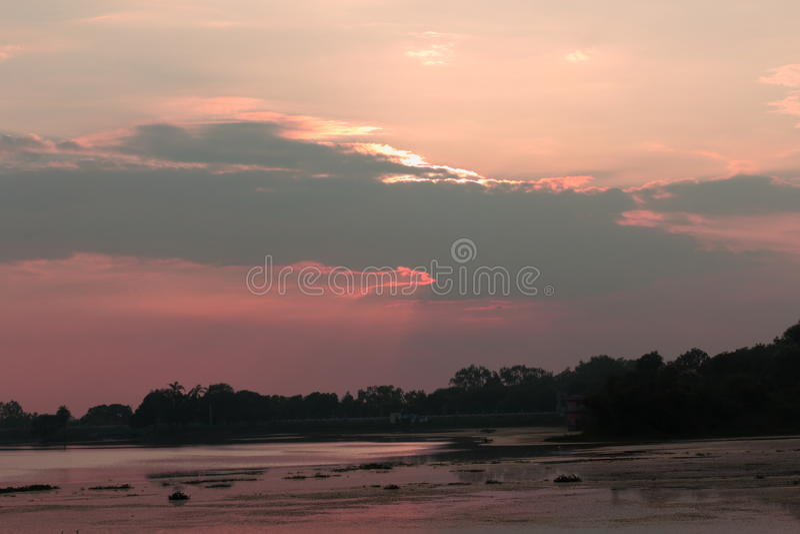 Естественный цвет в небе стоковая фотография