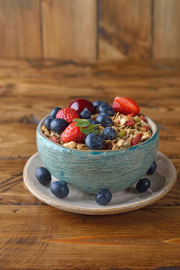 Естественный granola с плодоовощ стоковое фото
