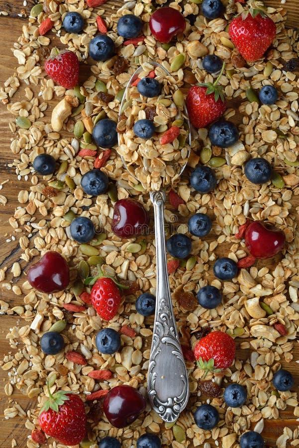 Естественный granola с плодоовощ стоковые изображения rf