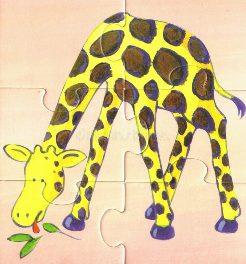 ест саванну giraffe стоковое изображение