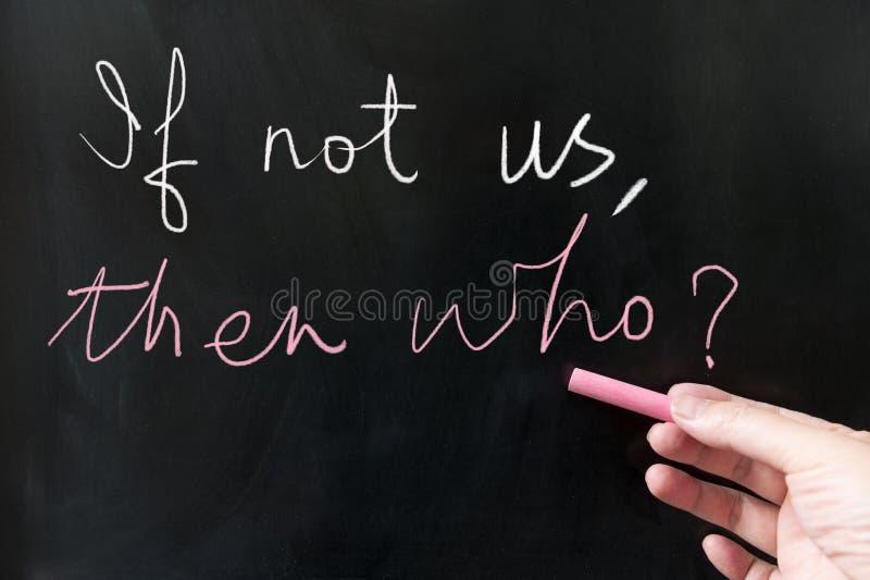 Если не мы, после этого кто стоковые фотографии rf