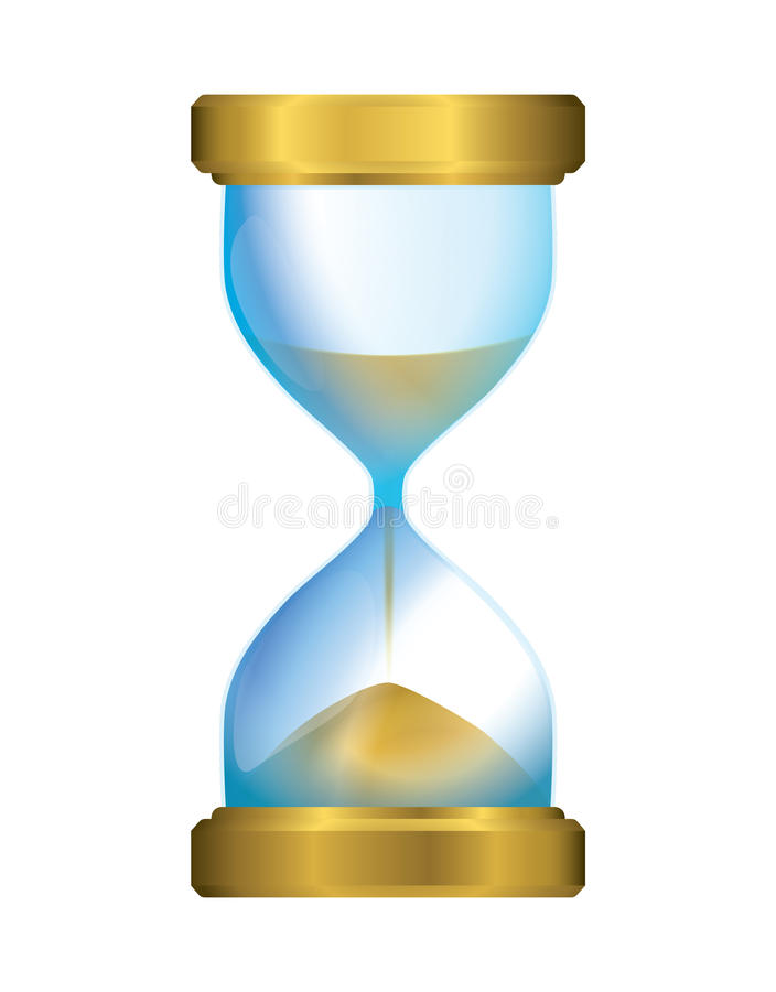 детализированный высоки вахта песка иллюстрации hourglass иллюстрация вектора