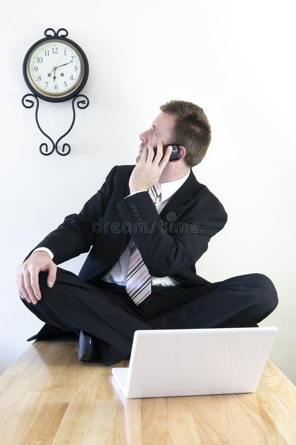 детеныши бизнесмена работая стоковое фото