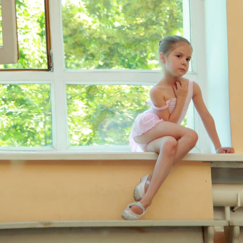 детеныши вектора иллюстрации шаржа балерины стоковые фото