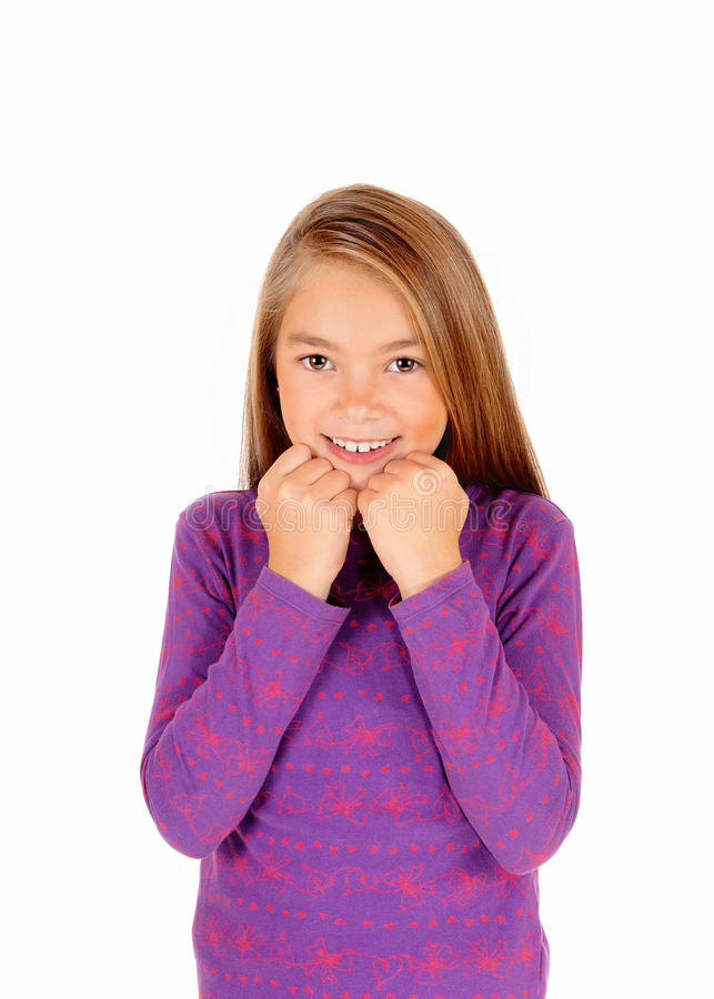 детеныши девушки счастливые стоковая фотография rf