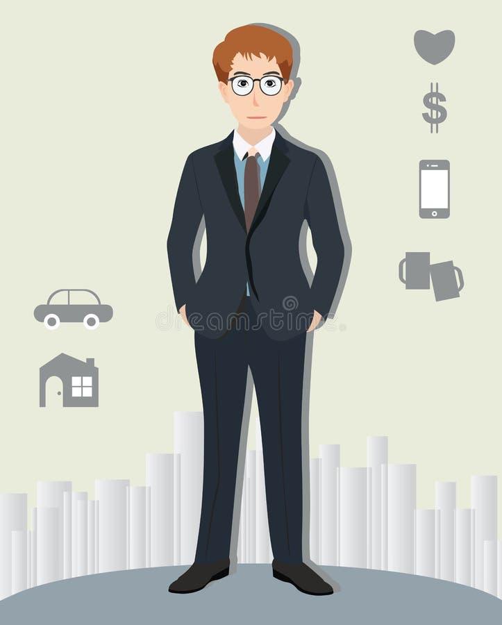 детеныши костюма бизнесмена иллюстрация штока