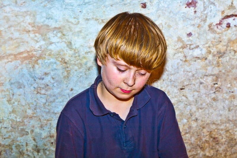 детеныши портрета мальчика милые стоковое изображение rf