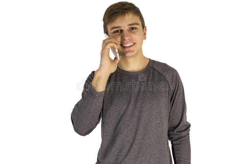 детеныши телефона человека клетки говоря стоковое фото rf
