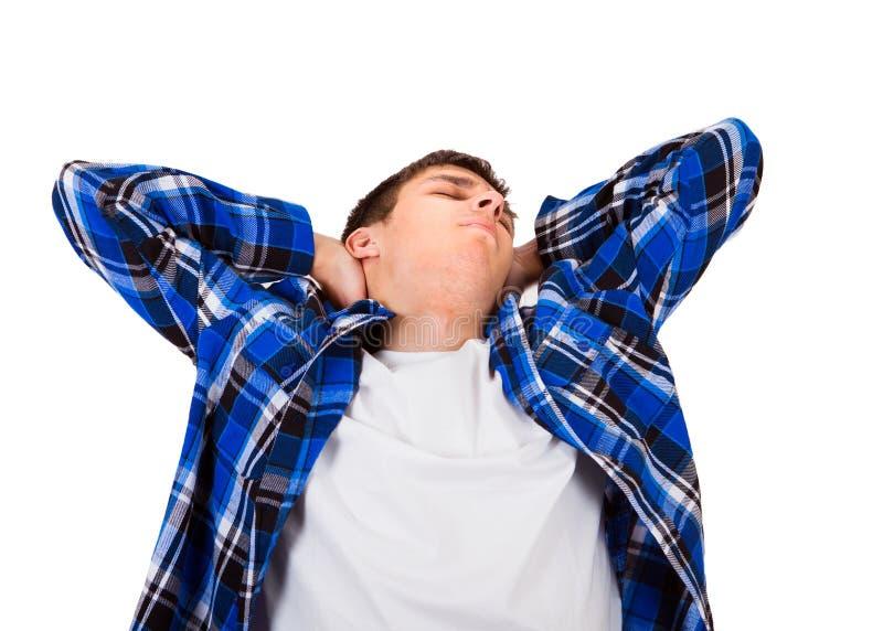 детеныши человека утомленные стоковая фотография rf