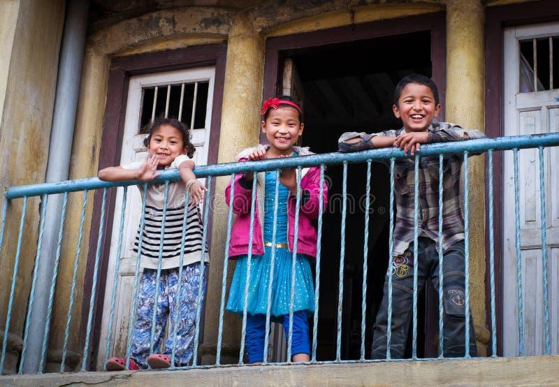 дети непальские стоковое фото rf