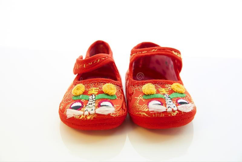 дети предпосылки изолировали ботинки s белые стоковое фото