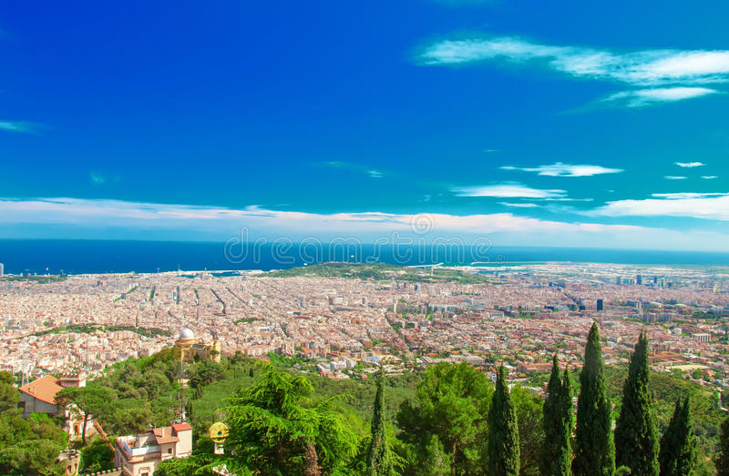лето Испании качества панорамы barcelona высокое очень широко стоковая фотография