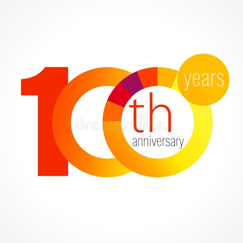 100 лет старого круглого логотипа иллюстрация штока