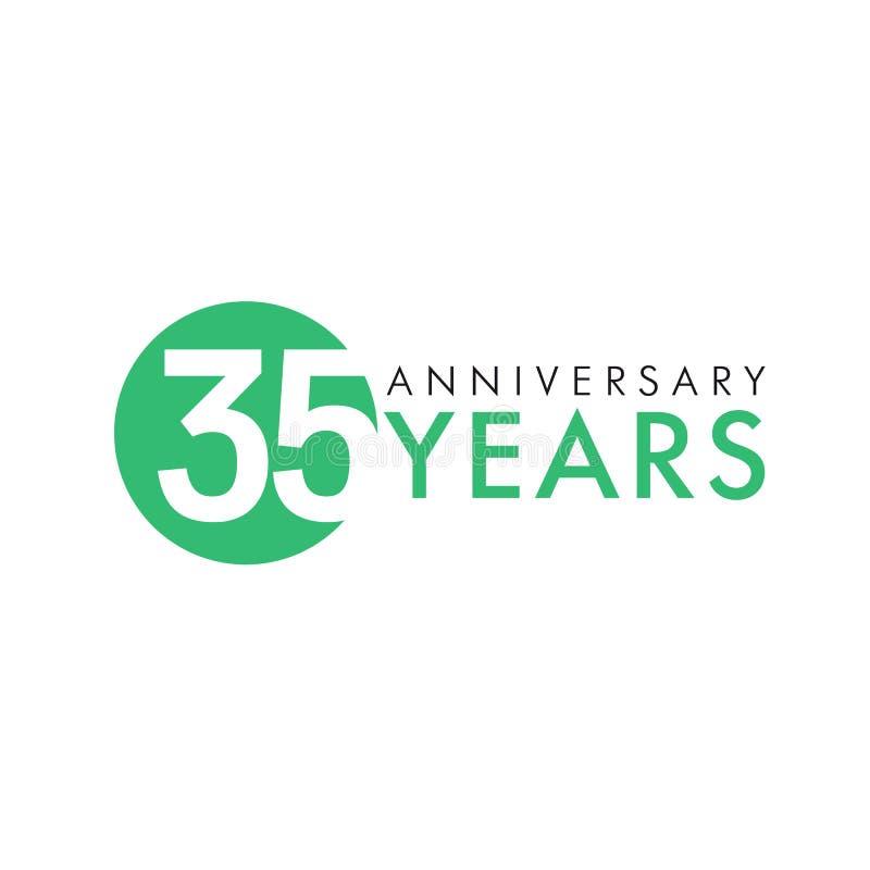 35 лет старого круглого логотипа бесплатная иллюстрация