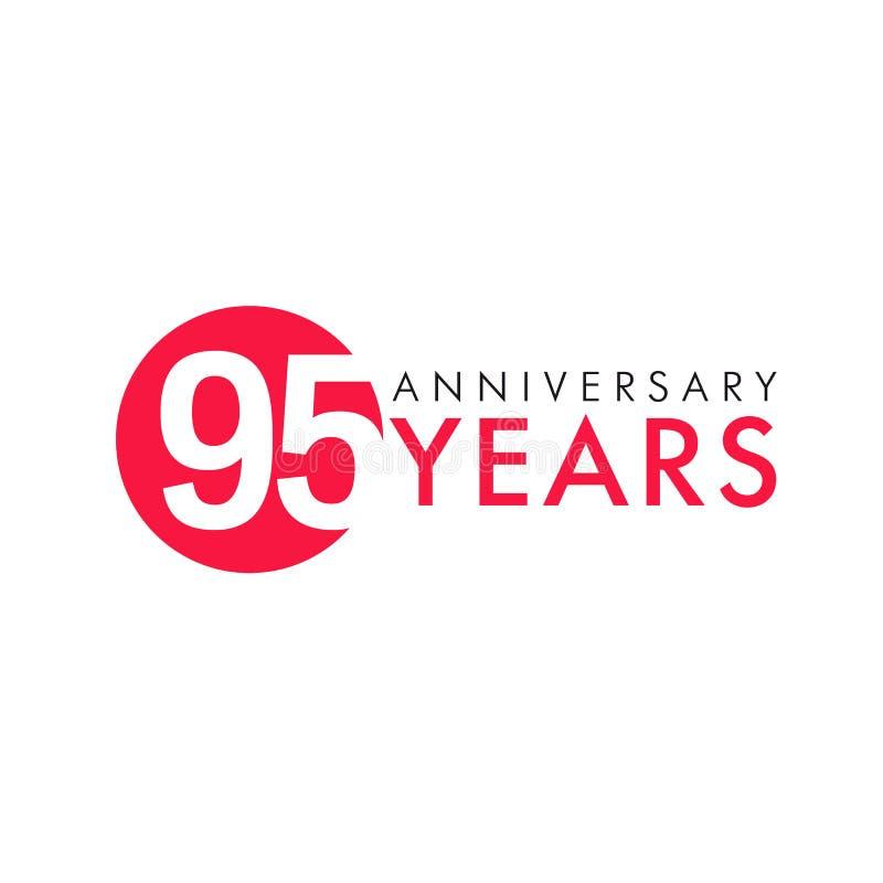 95 лет старого круглого логотипа бесплатная иллюстрация