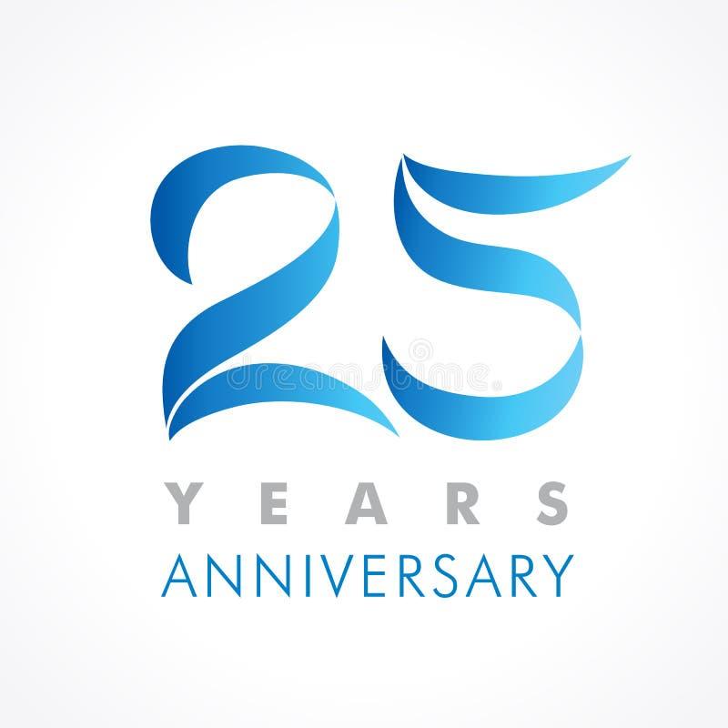 25 лет старого празднуя классического логотипа бесплатная иллюстрация