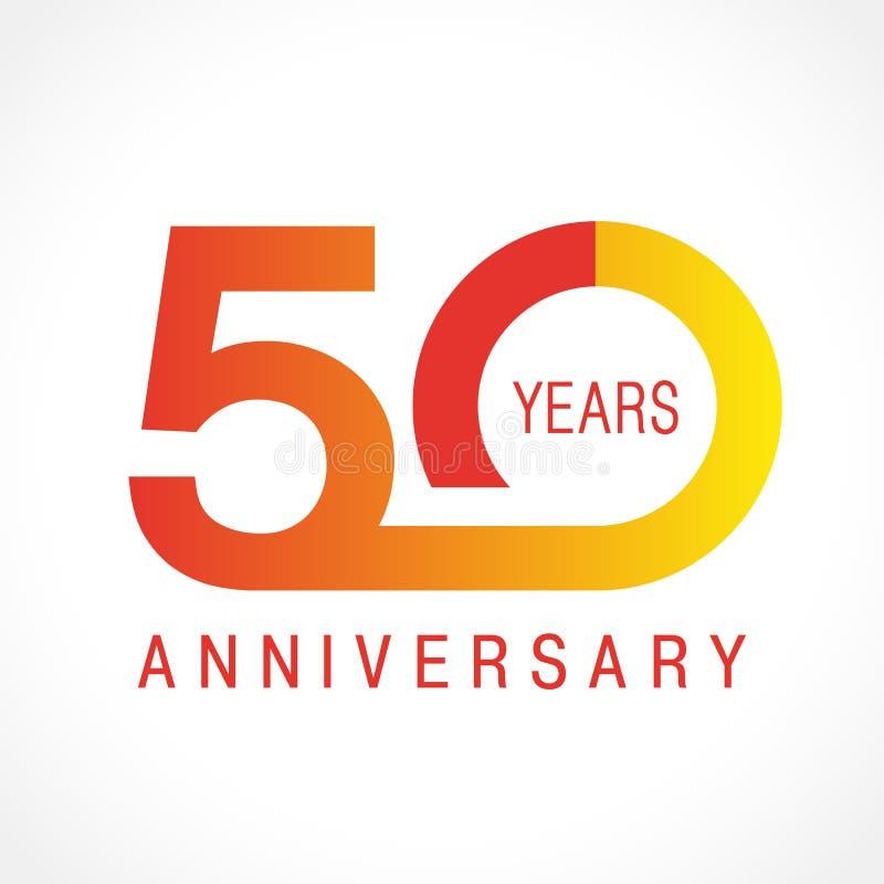 50 лет старого празднуя классического логотипа бесплатная иллюстрация