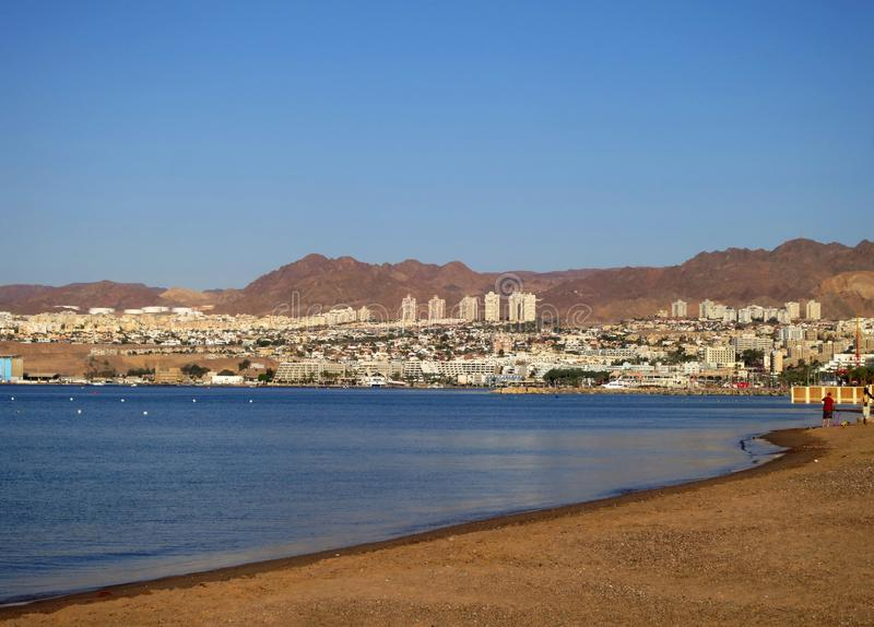 Ехал Zee, фургон Eilat гольфа, Israà «l; Красное Море, залив Eilat, Israe стоковая фотография