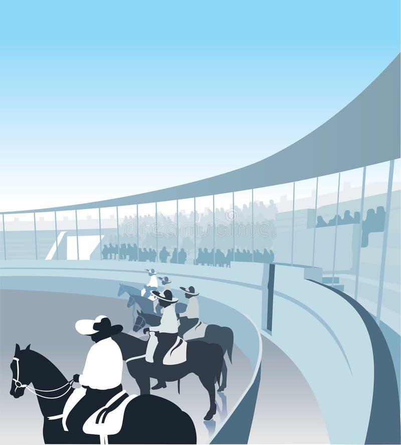 ехать фермеров лошадей мексиканский бесплатная иллюстрация