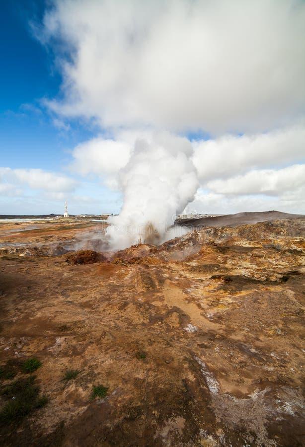 деятельность геотермическая Исландия стоковое изображение rf