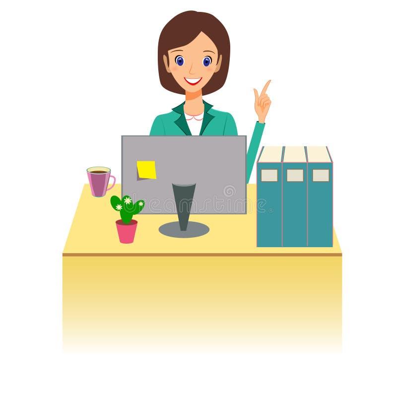 деятельность женщины офиса дела Иллюстрация вектора характера, бесплатная иллюстрация