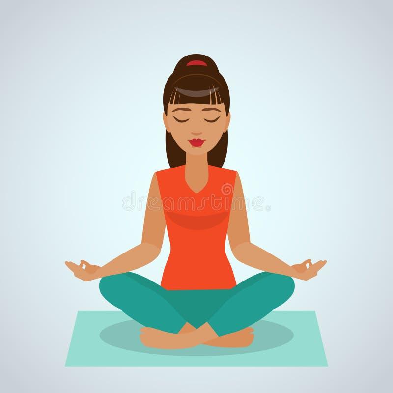 делать йогу девушки бесплатная иллюстрация