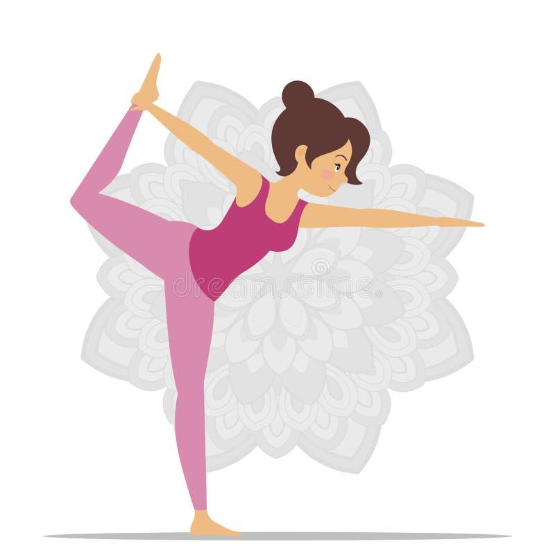 делать йогу женщины иллюстрация штока