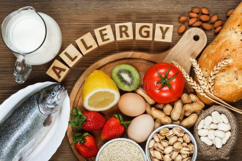 Еда аллергии стоковое фото rf