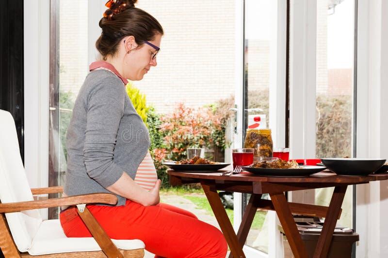 Еда беременности стоковое изображение