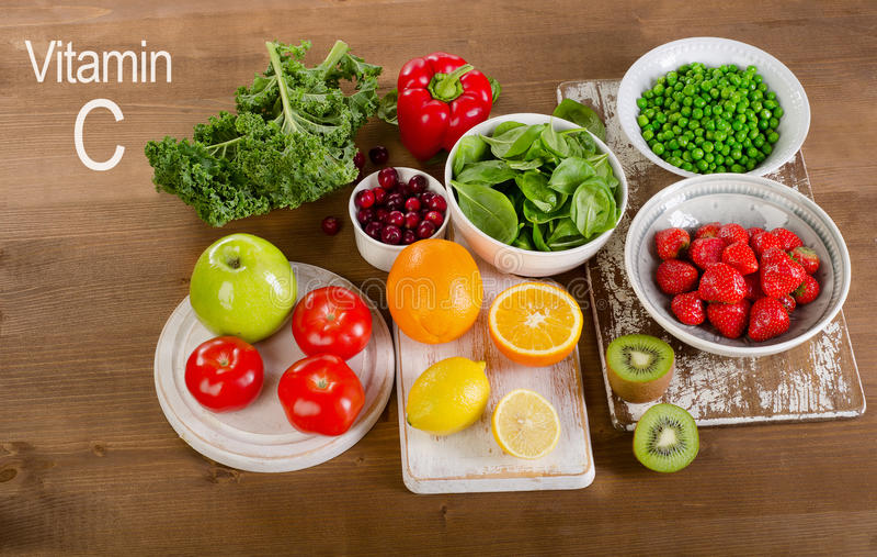 Еда высокая в витамин C еда здоровая стоковое изображение