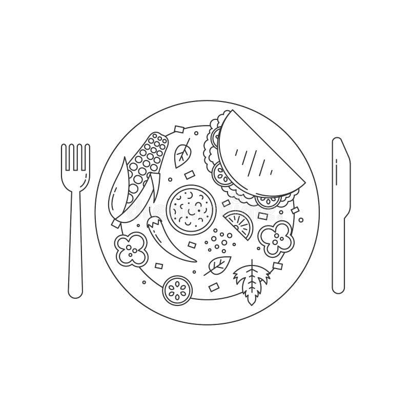 Еда в плите бесплатная иллюстрация