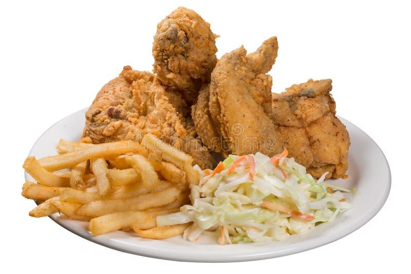 Еда жареной курицы стоковое фото rf