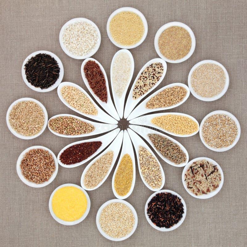 Еда зерна и хлопьев стоковые фотографии rf