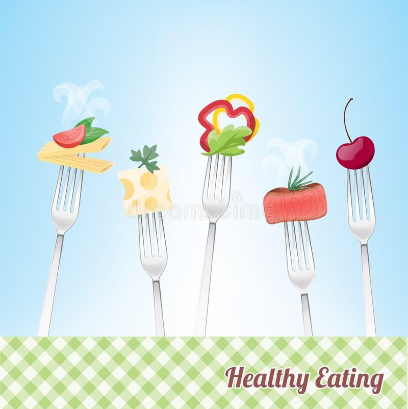 еда здоровая иллюстрация штока