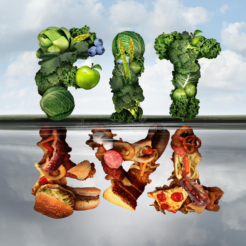 Еда изменения образа жизни иллюстрация штока