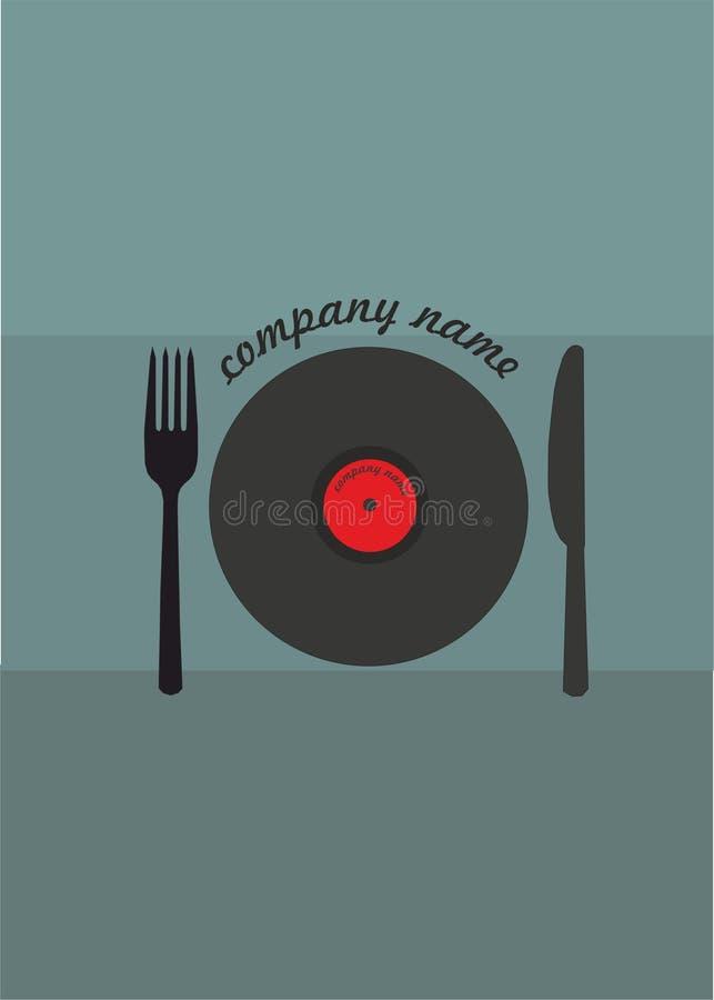 Еда и музыка стоковая фотография rf