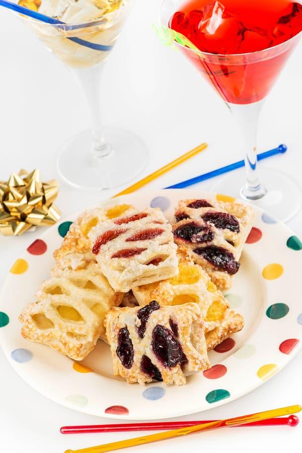 Еда и питье партии стоковые изображения